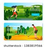 vector set of bright banner... | Shutterstock .eps vector #1383819566