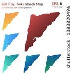 map of salt cay  turks islands... | Shutterstock .eps vector #1383820496