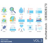weather icons including climate ... | Shutterstock .eps vector #1383828173