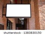 billboards or white promotion... | Shutterstock . vector #1383830150