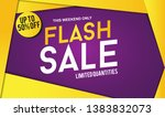 flash sale design for business... | Shutterstock .eps vector #1383832073