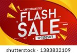 flash sale design for business... | Shutterstock .eps vector #1383832109