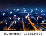 modern city with wireless... | Shutterstock . vector #1383834833