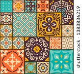 seamless colorful patchwork... | Shutterstock .eps vector #1383836219