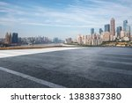 panoramic skyline with empty...   Shutterstock . vector #1383837380
