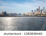 panoramic skyline with empty... | Shutterstock . vector #1383838460