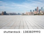 panoramic skyline with empty... | Shutterstock . vector #1383839993