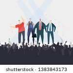 business people talking about...   Shutterstock .eps vector #1383843173