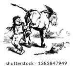 this image represents donkey... | Shutterstock .eps vector #1383847949