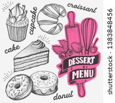 dessert illustration   cake ... | Shutterstock .eps vector #1383848456