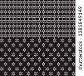 black   white seamless border... | Shutterstock .eps vector #1383849149