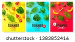 set of cards summer sale... | Shutterstock .eps vector #1383852416