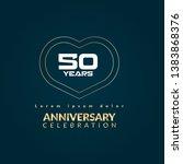 gold 50 years anniversary...   Shutterstock .eps vector #1383868376