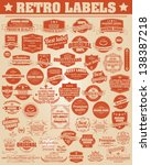 set of vintage retro labels ... | Shutterstock .eps vector #138387218
