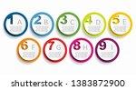 infographic design template... | Shutterstock .eps vector #1383872900