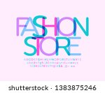 vector elegant emblem fashion... | Shutterstock .eps vector #1383875246