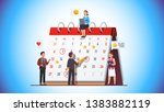 business team working together... | Shutterstock .eps vector #1383882119