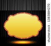 shining retro banner on black... | Shutterstock .eps vector #1383884270