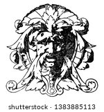 modern french grotesque mask... | Shutterstock .eps vector #1383885113