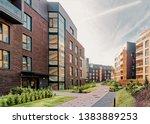 modern european complex of... | Shutterstock . vector #1383889253