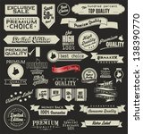 set of retro vintage labels | Shutterstock .eps vector #138390770