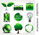 ecology icons | Shutterstock .eps vector #138391994