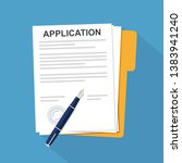 vector application documents... | Shutterstock .eps vector #1383941240