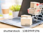 shopping online and electronic...   Shutterstock . vector #1383949196