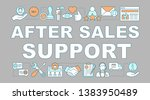 after sales support word... | Shutterstock .eps vector #1383950489
