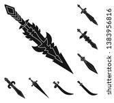 vector design of sharp and... | Shutterstock .eps vector #1383956816