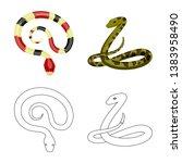 vector illustration of mammal... | Shutterstock .eps vector #1383958490
