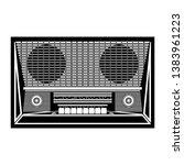 retro radio receiver on white... | Shutterstock .eps vector #1383961223