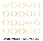 different golden silhouette... | Shutterstock .eps vector #1383966659