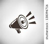loudspeaker | Shutterstock .eps vector #138396716