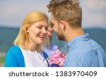 couple in love happy dating ... | Shutterstock . vector #1383970409
