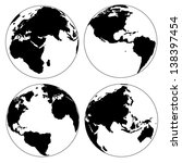 world map and globe detail... | Shutterstock .eps vector #138397454