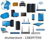 lan network diagram icons... | Shutterstock .eps vector #138397550