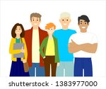 a group of young people....   Shutterstock .eps vector #1383977000