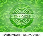 non resident green emblem with... | Shutterstock .eps vector #1383977900
