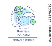 business incubator concept icon.... | Shutterstock .eps vector #1383983780