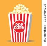 popcorn pack design. popcorn... | Shutterstock .eps vector #1383984203