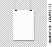 empty a4 sized paper frame... | Shutterstock .eps vector #1383985406