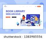 modern flat web page design... | Shutterstock .eps vector #1383985556