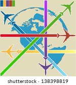 concept of airplane  air craft... | Shutterstock .eps vector #138398819