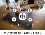 hr human resources management....   Shutterstock . vector #1384017653