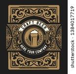 vintage beer label for packing | Shutterstock .eps vector #1384017719