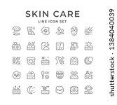 set line icons of skin care | Shutterstock .eps vector #1384040039