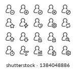 person and user thin line icon... | Shutterstock .eps vector #1384048886