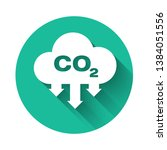 white co2 emissions in cloud... | Shutterstock .eps vector #1384051556