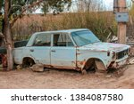 the old  disassembled  rusty...   Shutterstock . vector #1384087580